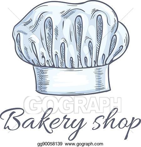Vector illustration bakery shop. Baker clipart sketch