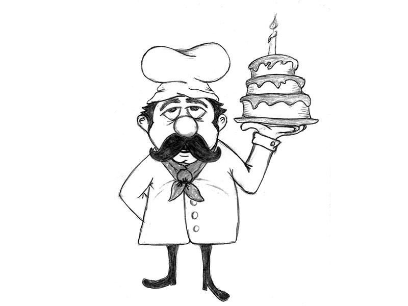 Drawing at getdrawings com. Baker clipart sketch