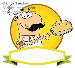 Image of a smiling. Baker clipart thing