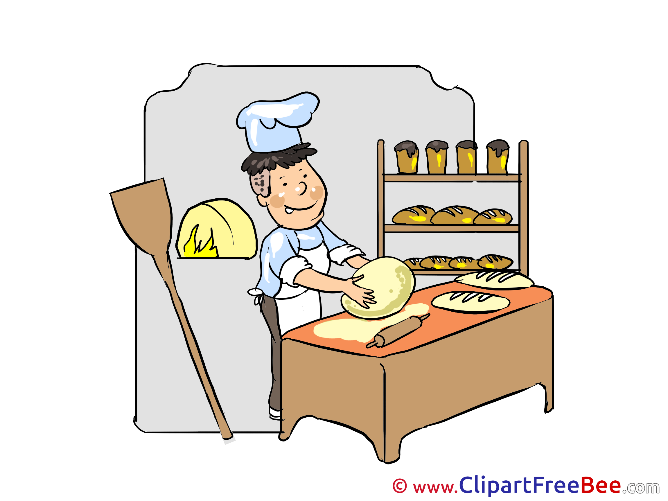 Cilpart. Baker clipart thing