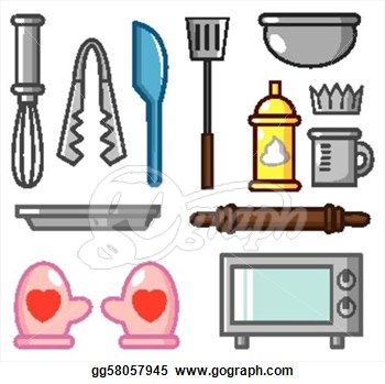 Baker clipart thing. Baking tools panda free