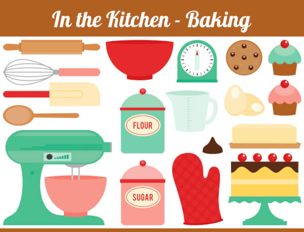 Kitchen every needs chocolate. Baker clipart tools