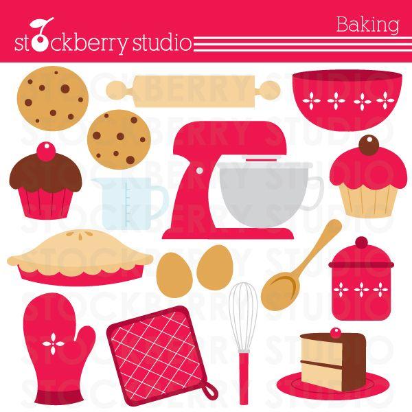 Baking clipart baking utensil. Set mitten mixer whisk