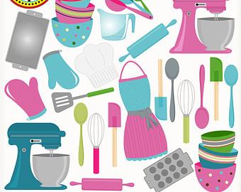 Baker clipart tools. Cooking clip art baking