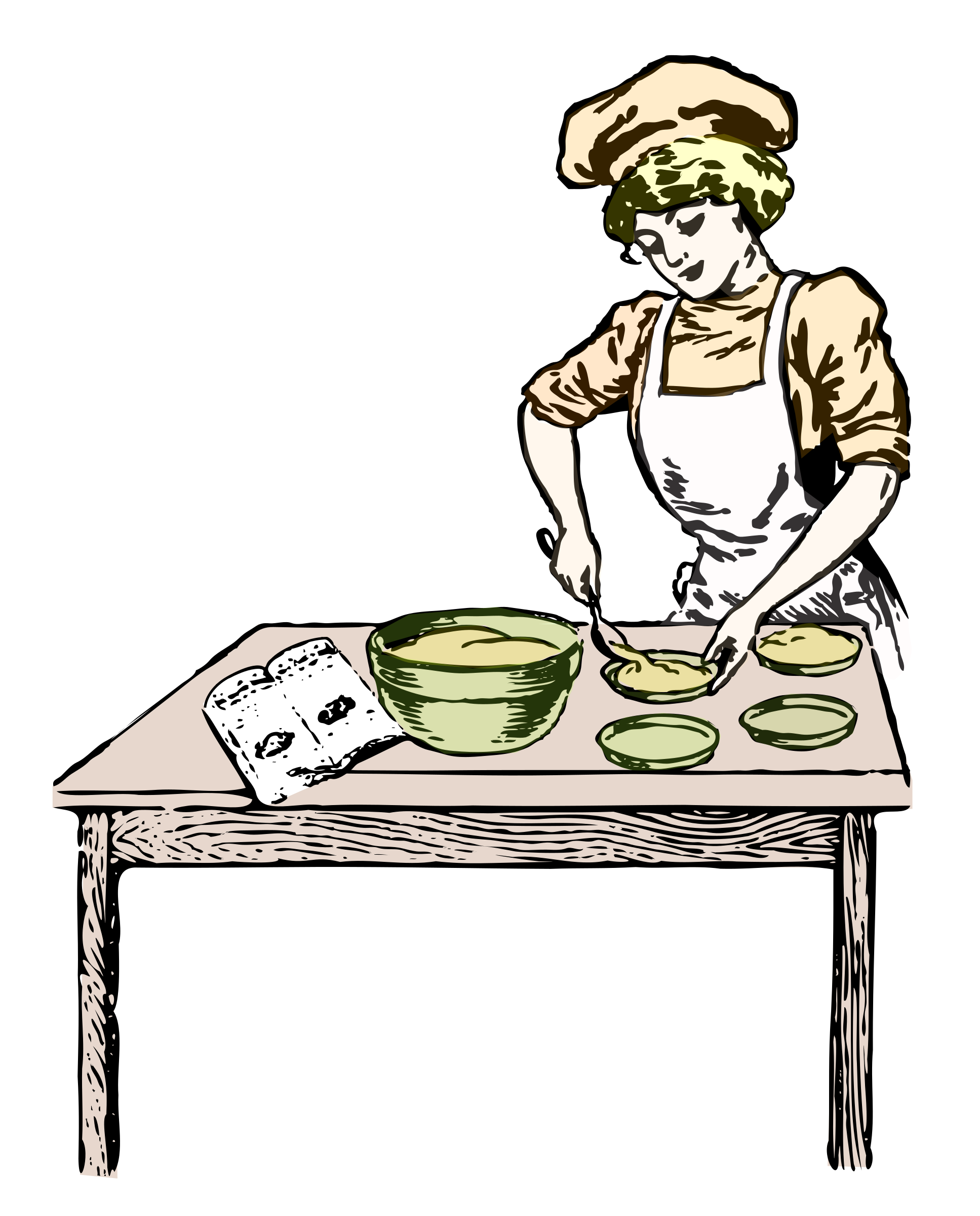 female clipart baker