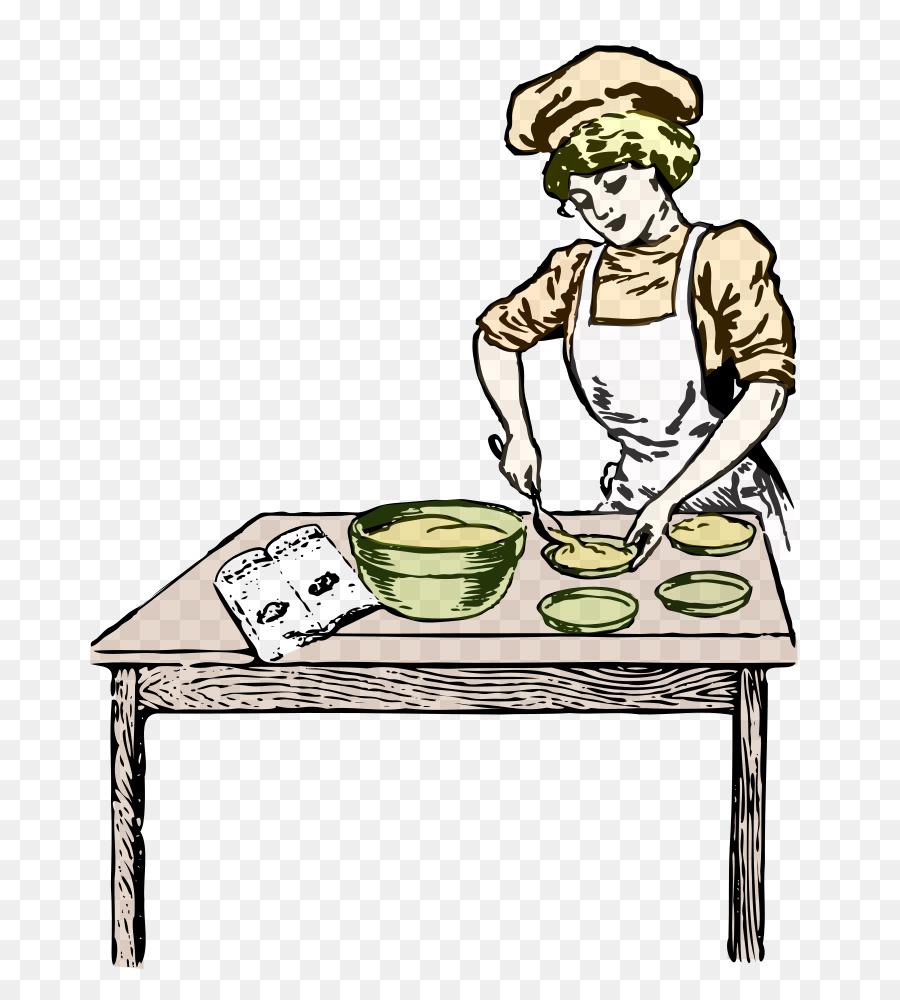 Table cartoon bakery furniture. Baker clipart transparent