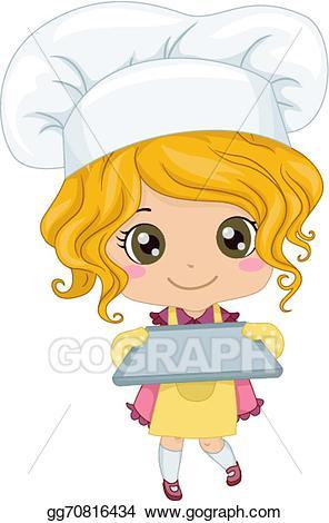 Baker clipart vector. Girl illustration gg gograph