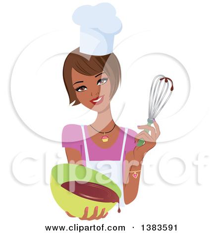 Woman . Baker clipart vector