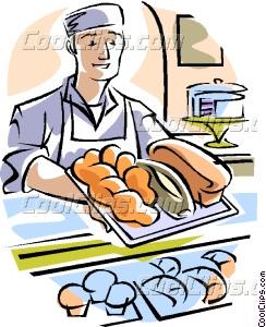 Baker clipart vector. Clip art