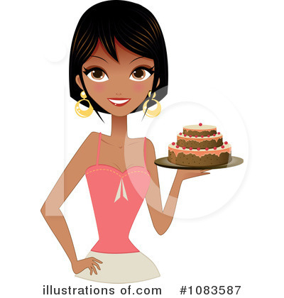 Baker clipart woman baker. Illustration by melisende vector