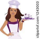 Baker clipart woman baker. Of a beautiful brunette