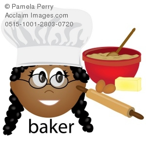 Clip art illustration of. Baker clipart woman baker