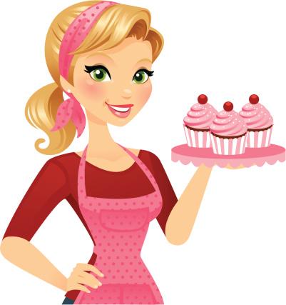 Clip art library . Baker clipart woman baker