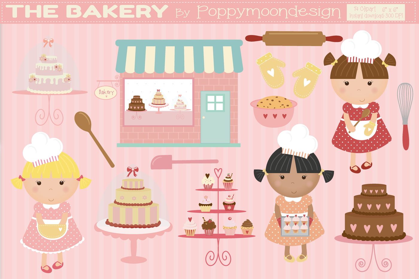 The by poppymoon design. Bakery clipart