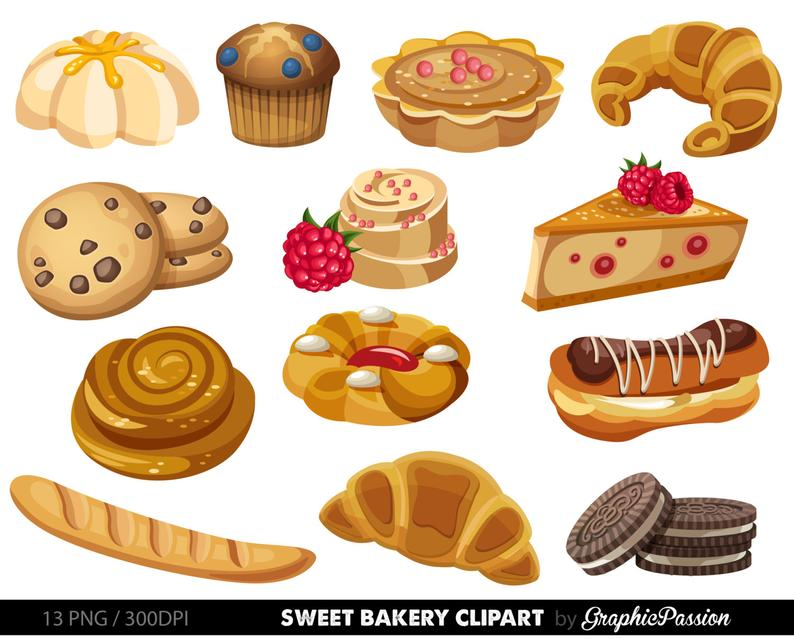 Bakery clipart. Sweet treat clip art