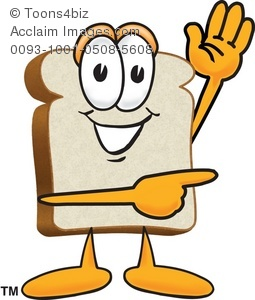 Slice pointing to the. Bread clipart cartoon