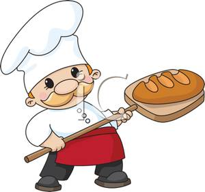 Bakery clipart baker. A cute chef with