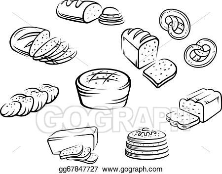 Bakery clipart bakery food. Vector art eps gg