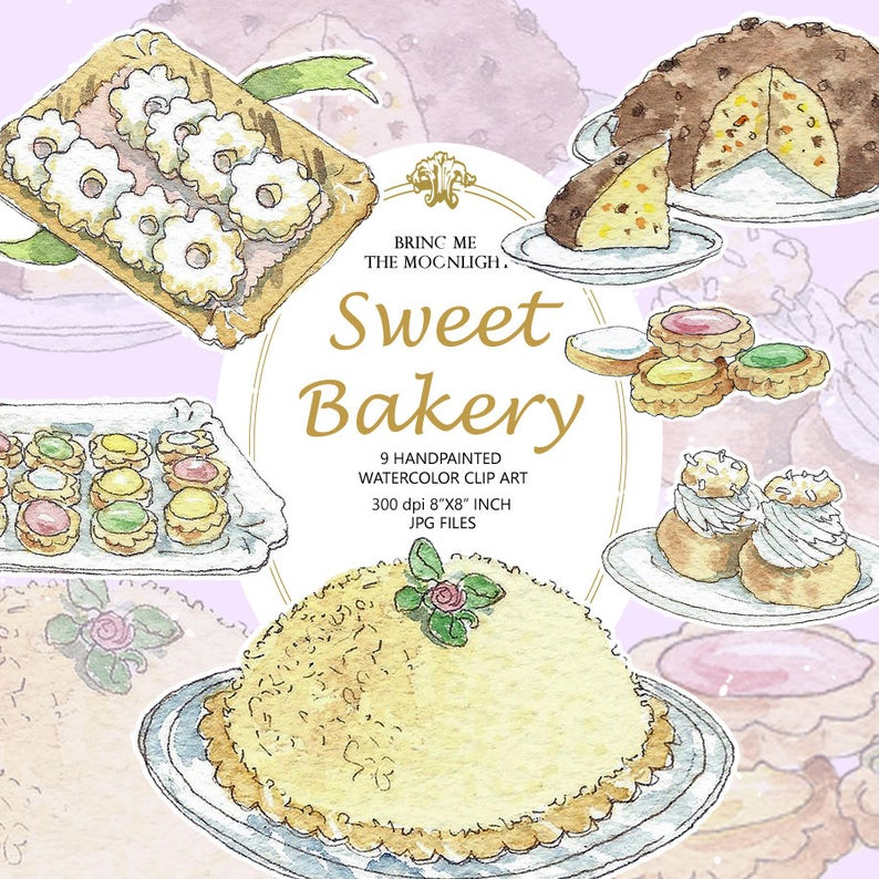 Bakery clipart bakery food. Cookies clip art pack