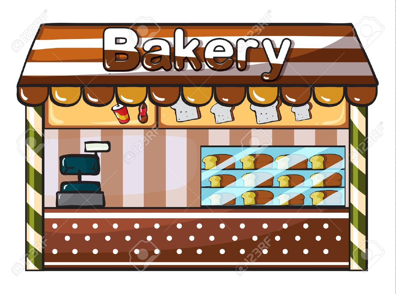 Building station . Bakery clipart bakery shop
