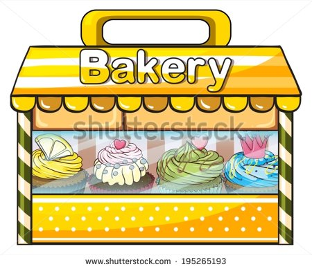 Bakery clipart bakery stall. Illustration of a panda