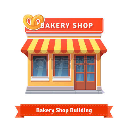 Building station . Bakery clipart bakery storefront