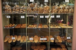 Display of a stock. Bakery clipart bakery window