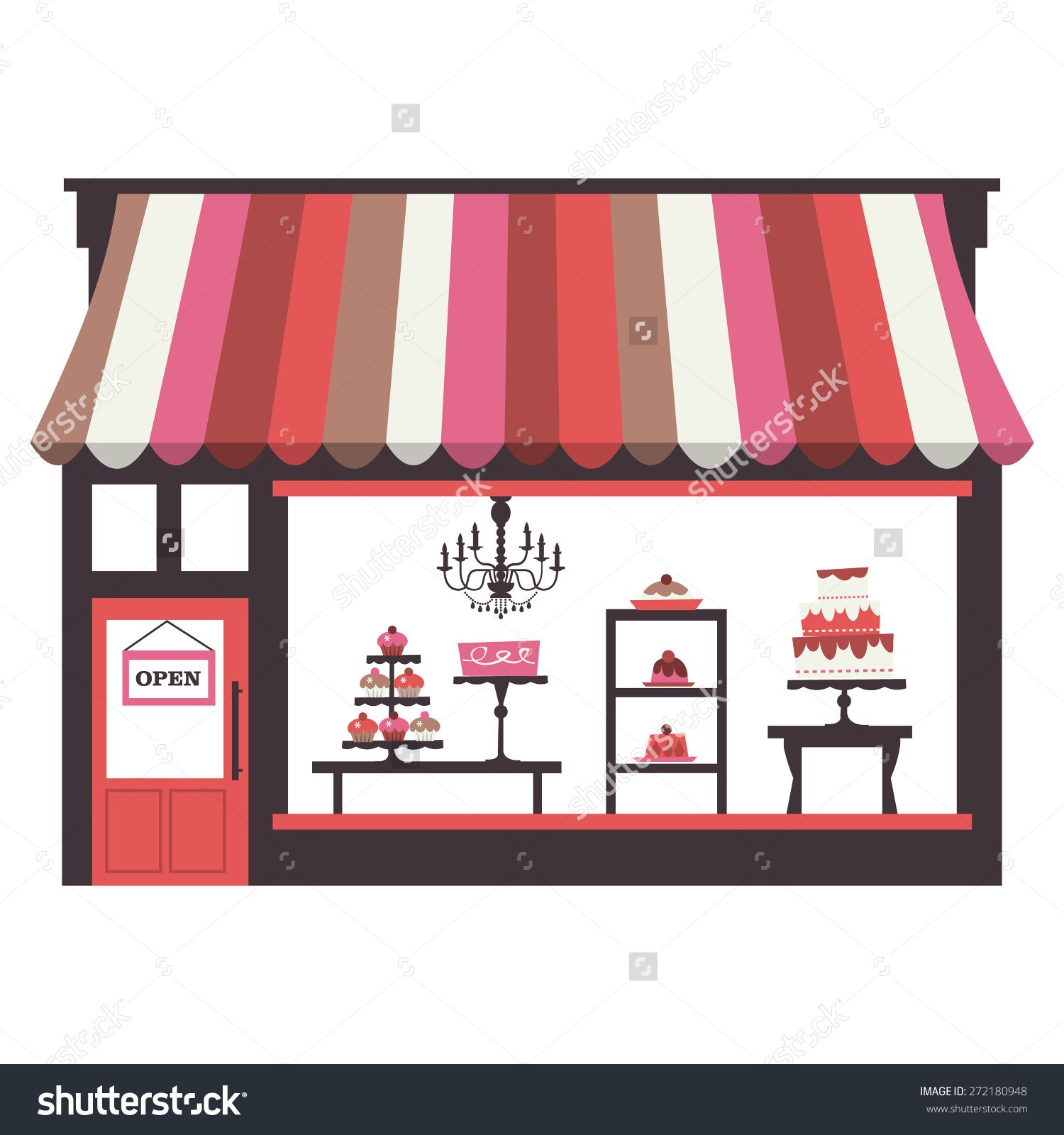 Image result for parisian. Bakery clipart bakery window