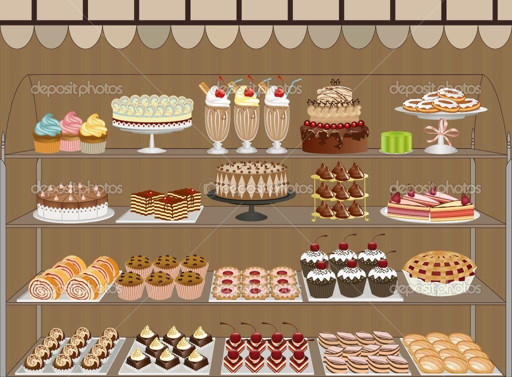 Pastry shop i want. Bakery clipart bakery window