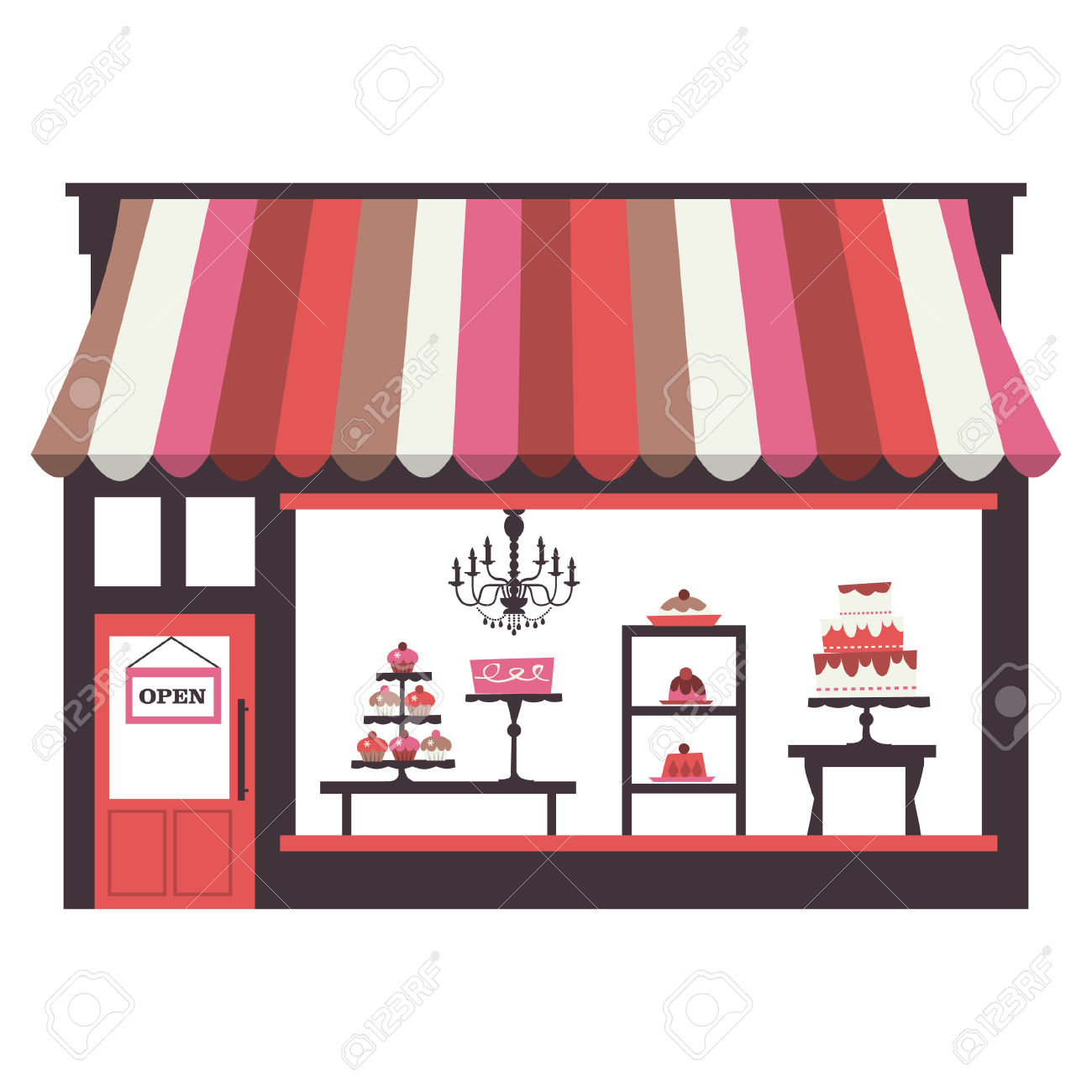 Bakery clipart bakery window. Building free download best