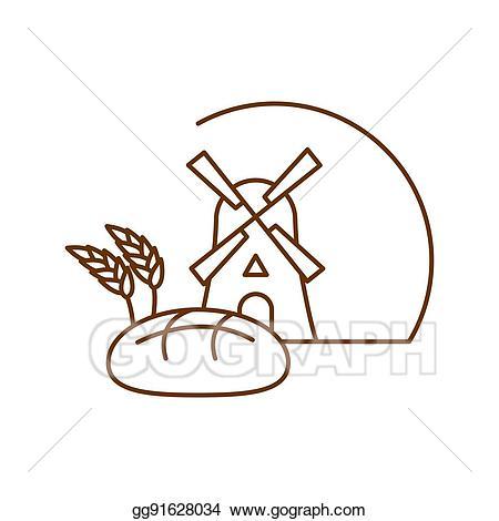Bakery clipart bakeshop. Vector logo linear style