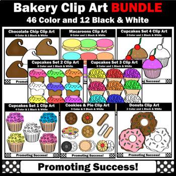Bakery clipart baking. Clip art bundle cookie
