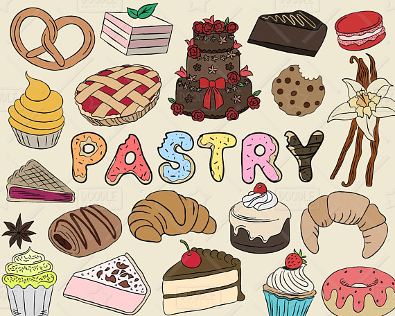 Bakery clipart baking. Pastry vector pack sweets