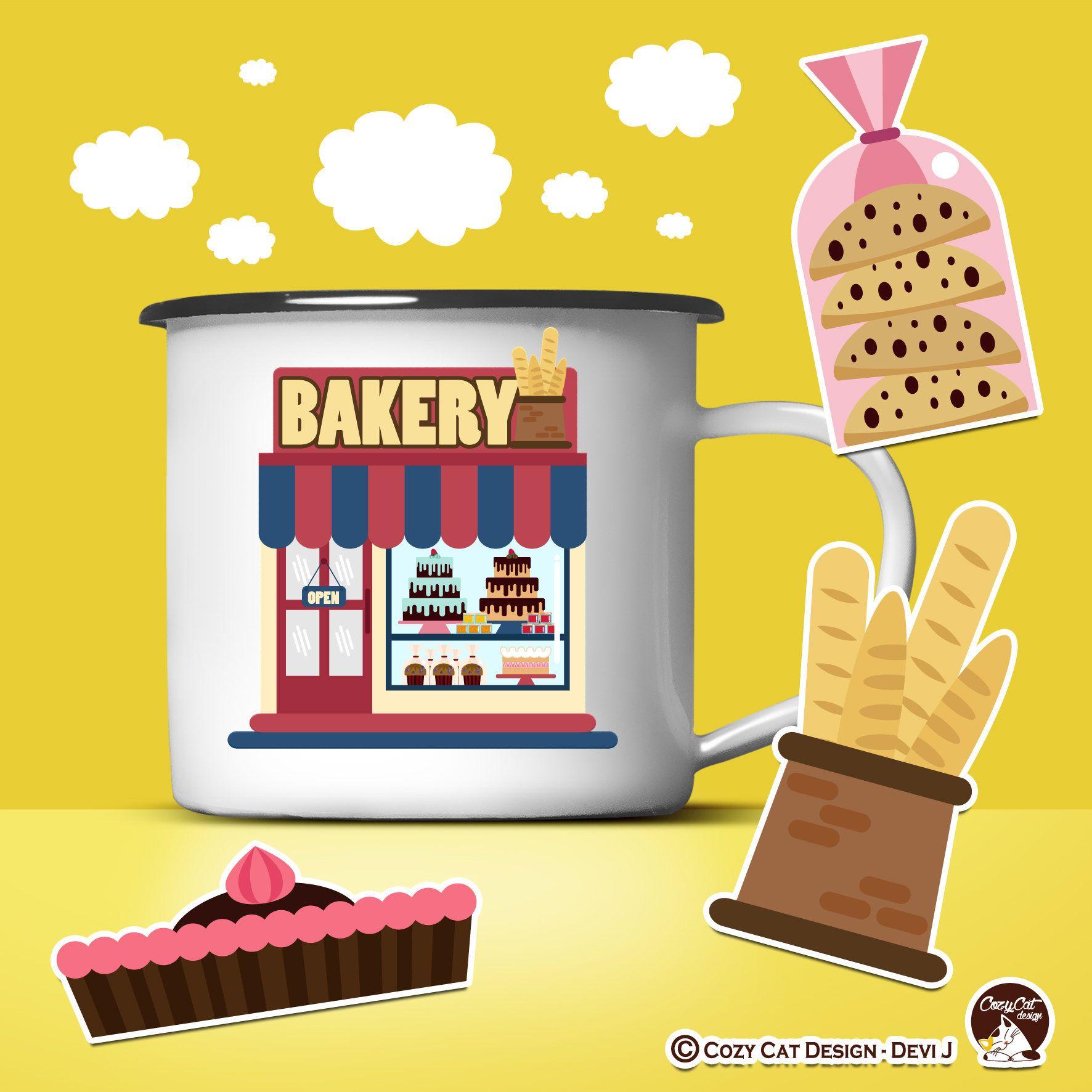 Bakery clipart baking. Cute bake cake bread