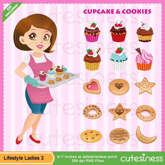 Bakery baker by cutesiness. Baking clipart pastry
