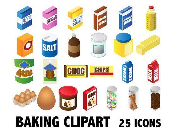 Kitchen clip art ingredients. Bakery clipart baking