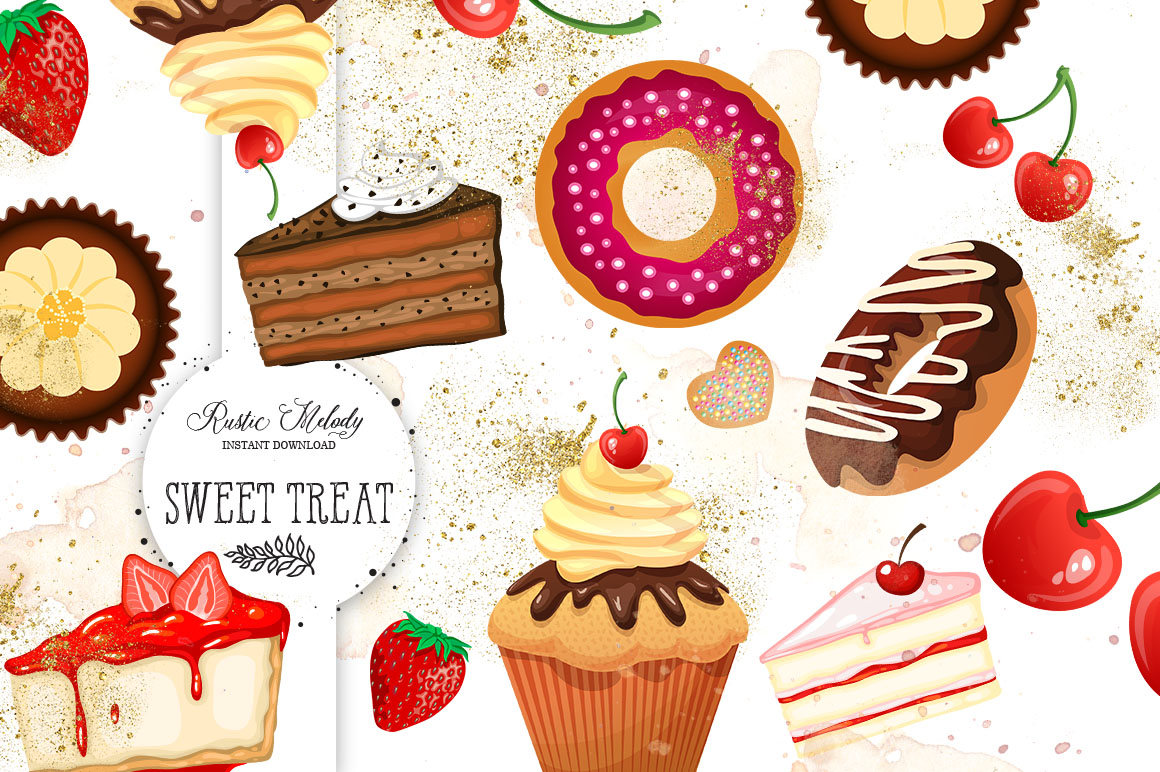 Sweets cake cupcake boutique. Bakery clipart baking