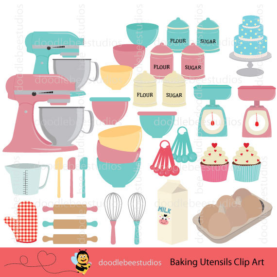 Baking clipart baking equipment. Utensils clip art kitchen