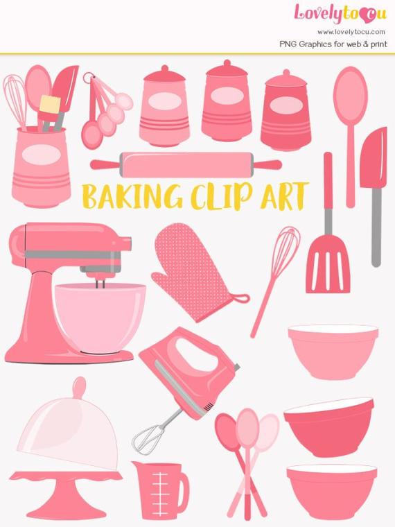 Clip art set baker. Baking clipart baking utensil