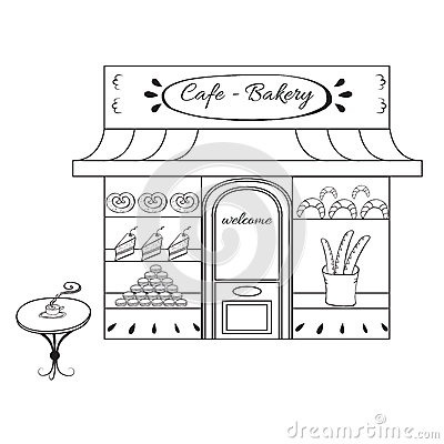 Letters within . Bakery clipart black and white