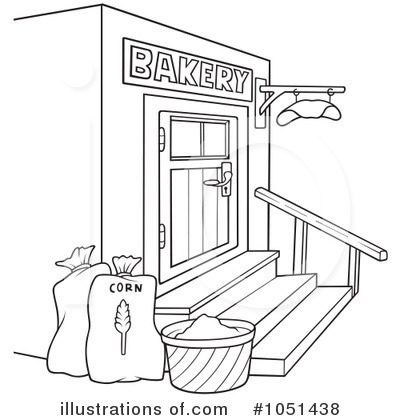 Bakery clipart black and white. Station