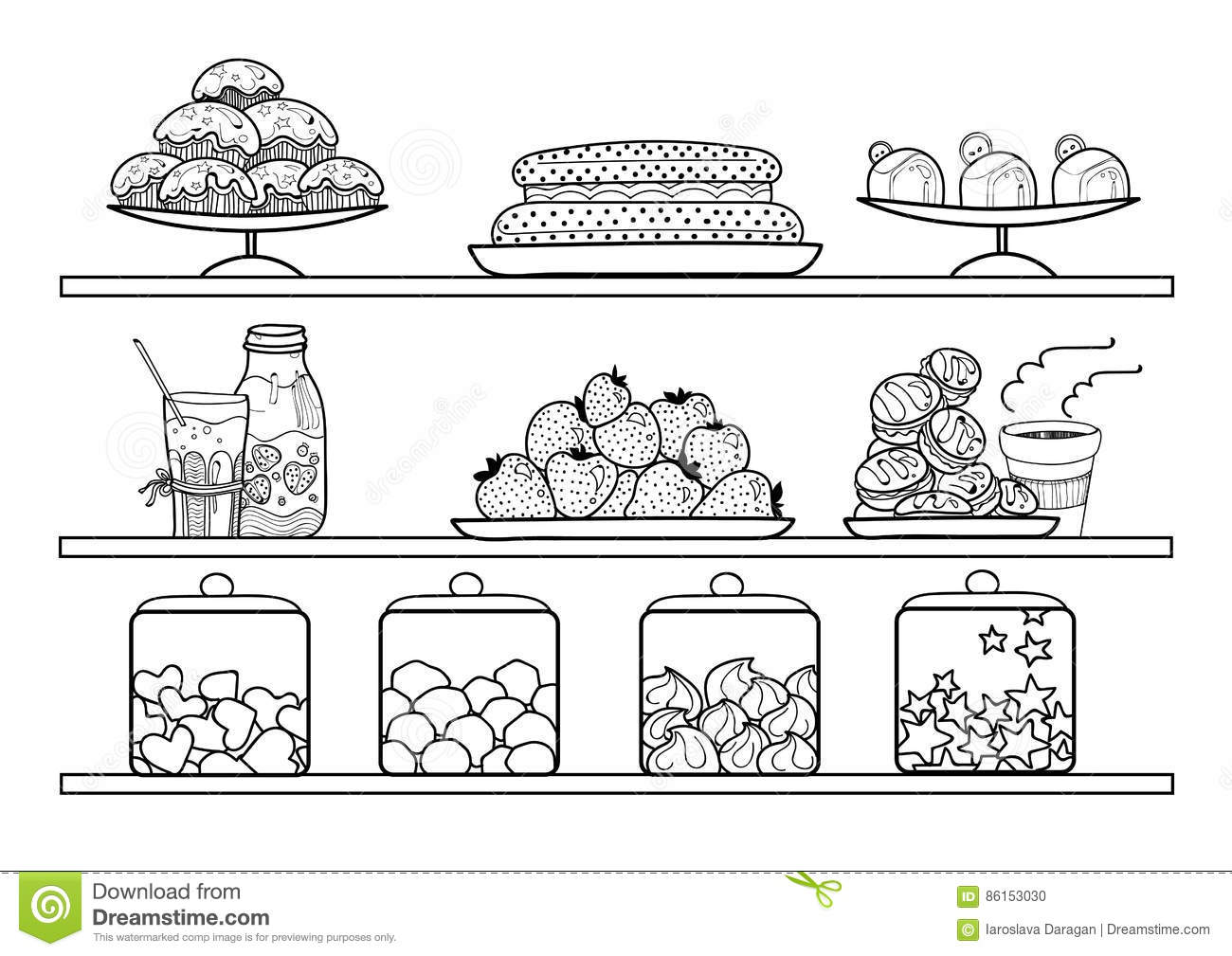 Shop portal . Bakery clipart black and white