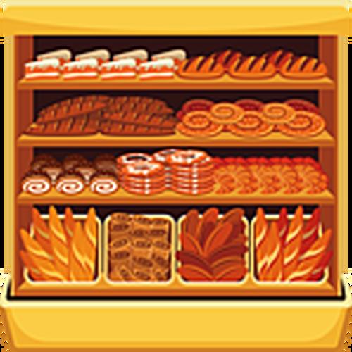 Food background illustration . Bakery clipart bread shop