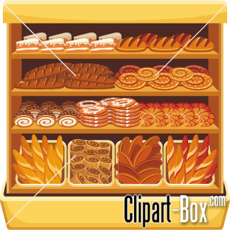Bakery clipart bread shop. Products on shelf cliparts