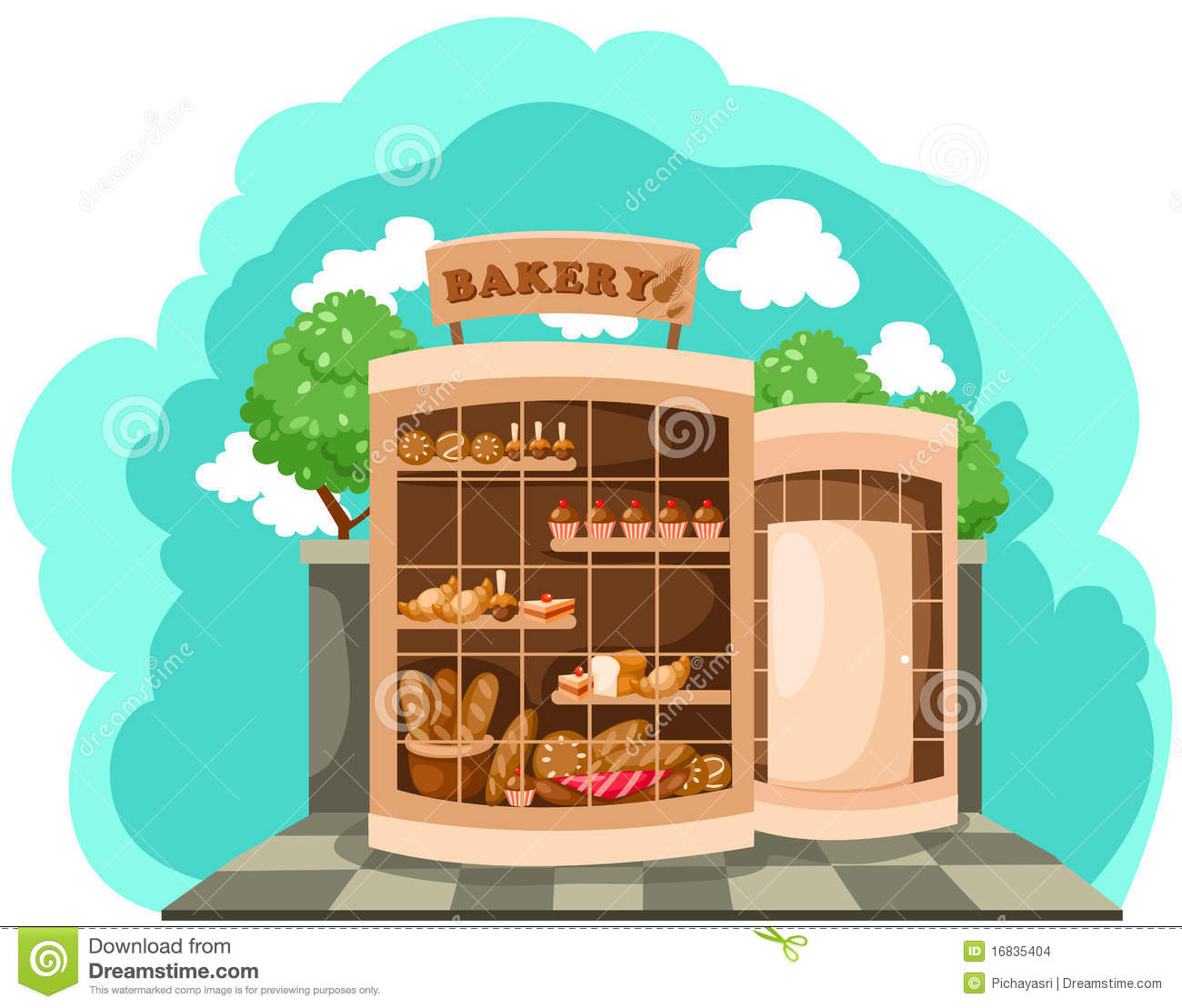 Bakery clipart bread shop.  collection of front