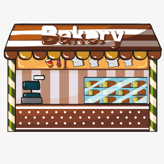 Bakery clipart bread shop. Vector store png and