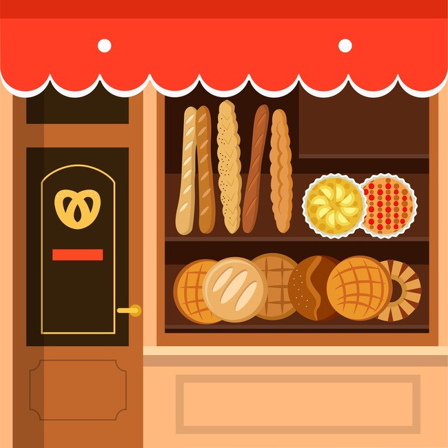 Poster background image for. Bakery clipart bread shop