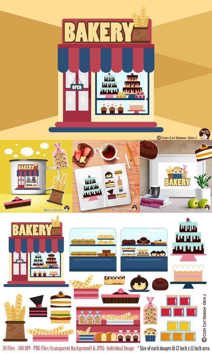 Barelydevi on twitter cute. Bakery clipart bread shop