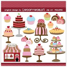 Cakes cupcakes birthday candles. Bakery clipart cake shop