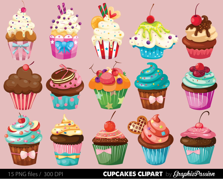 Desserts clipart bakery item. Cupcakes digital cupcake clip